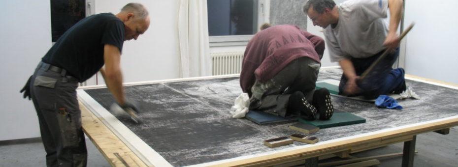 Linoldruck bei Wolfgang Zät