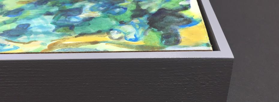 grau gespritzter Schattenfugenrahmen, Farbe Nr. 11